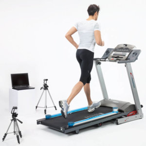 A runner using Opto Gait Video Treadmill Analysis