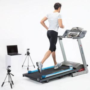 A runner using Opto Gait Video Treadmill Analysis