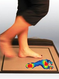 Podiatry Pressure Mat Analysis in action