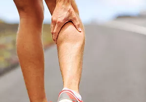 A runner with a calf problem or other sports injury
